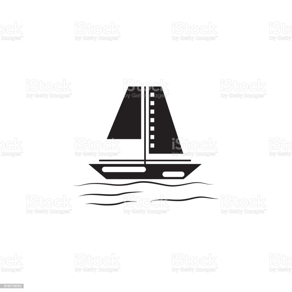 sailing ship icon elements of beach holidays icon premium quality