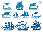 Ships of the past  iconset. PSD with transparency included. All ships separates by layers.