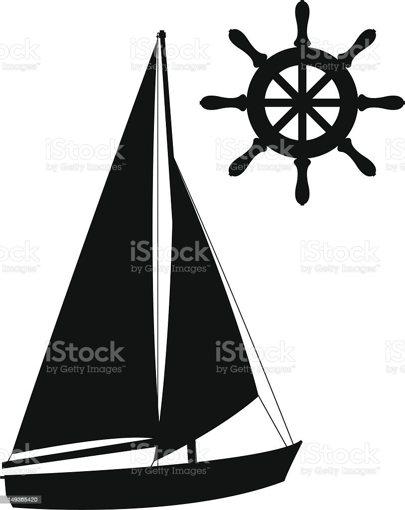 Sailing Symbol Silhouettes royalty-free sailing symbol silhouettes stock vector art & more images of aquatic sport