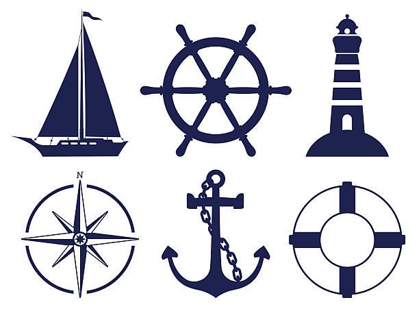 illustrations, cliparts, dessins animés et icônes de symboles de voile - bateau à voile