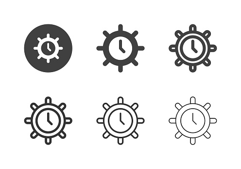 Sailing Time Icons - Multi Series