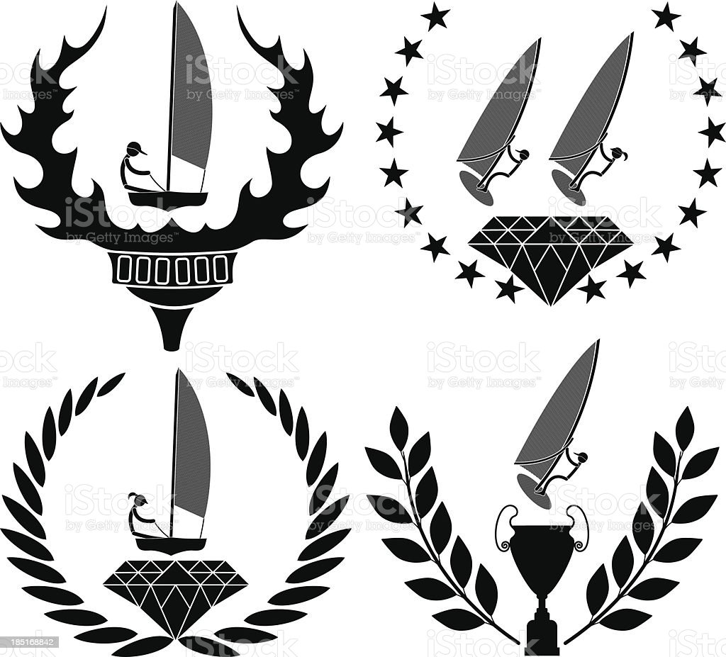 Sailing royalty-free sailing stock vector art & more images of athlete