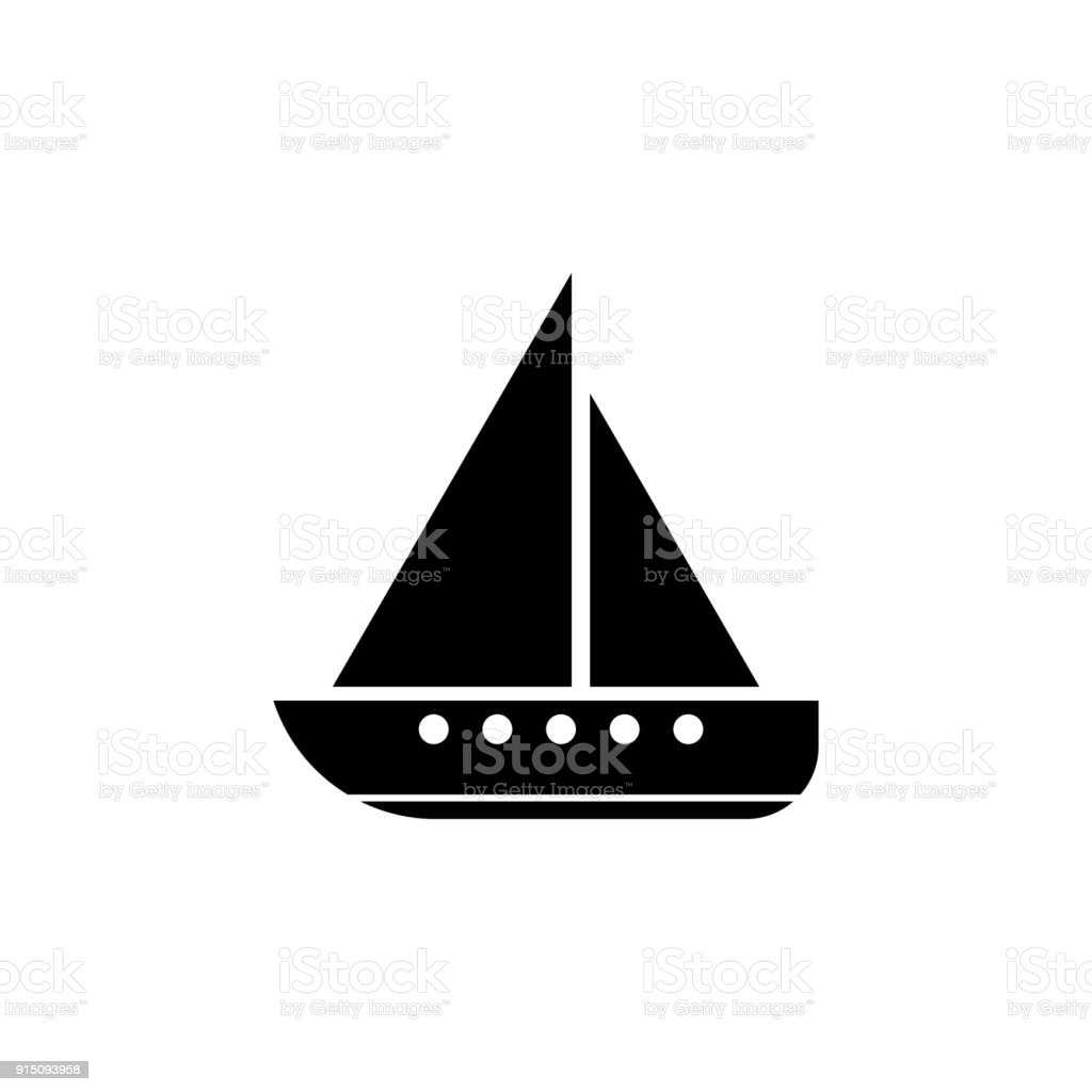sailing yacht icon elements of transport icon premium quality