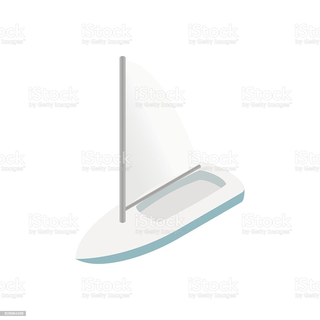Sailing Yacht Isometric 3d Icon Stock Illustration - Download Image
