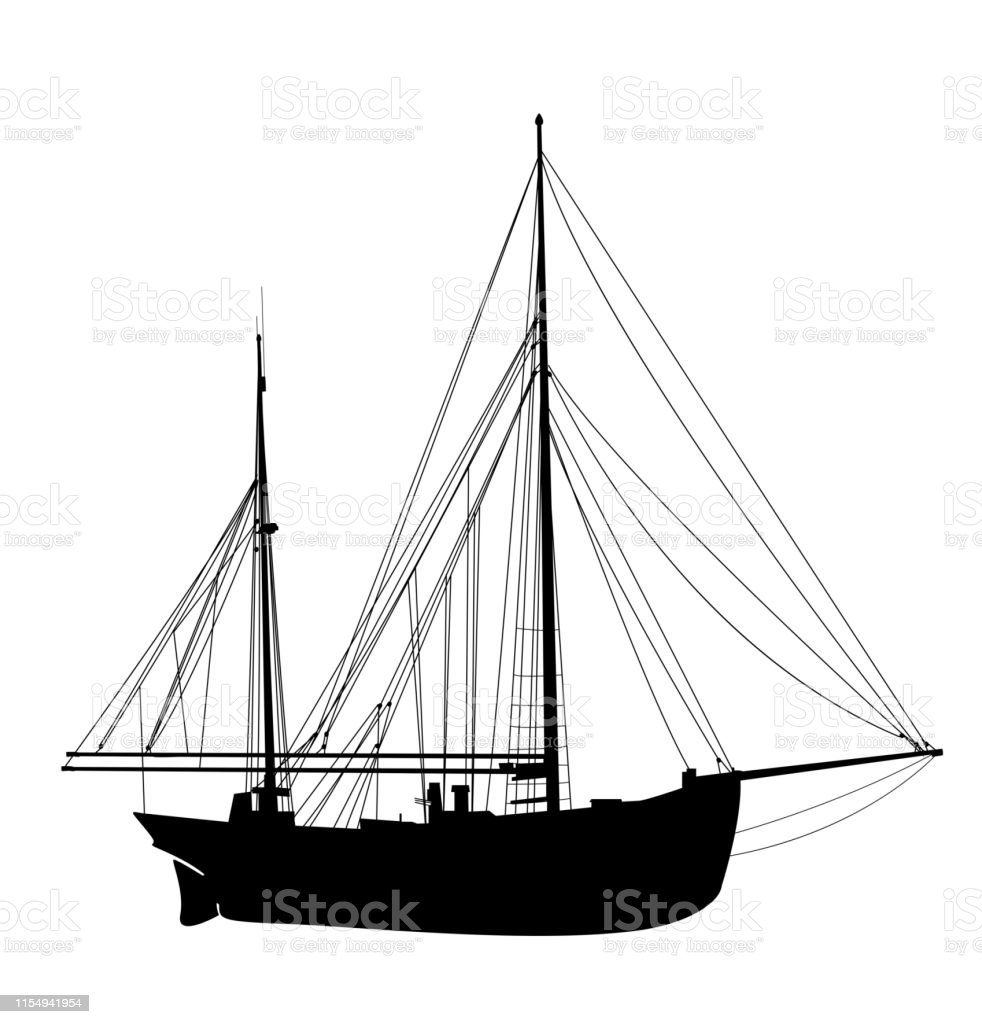 Sailing Yacht Silhouette 3 Stock Illustration - Download