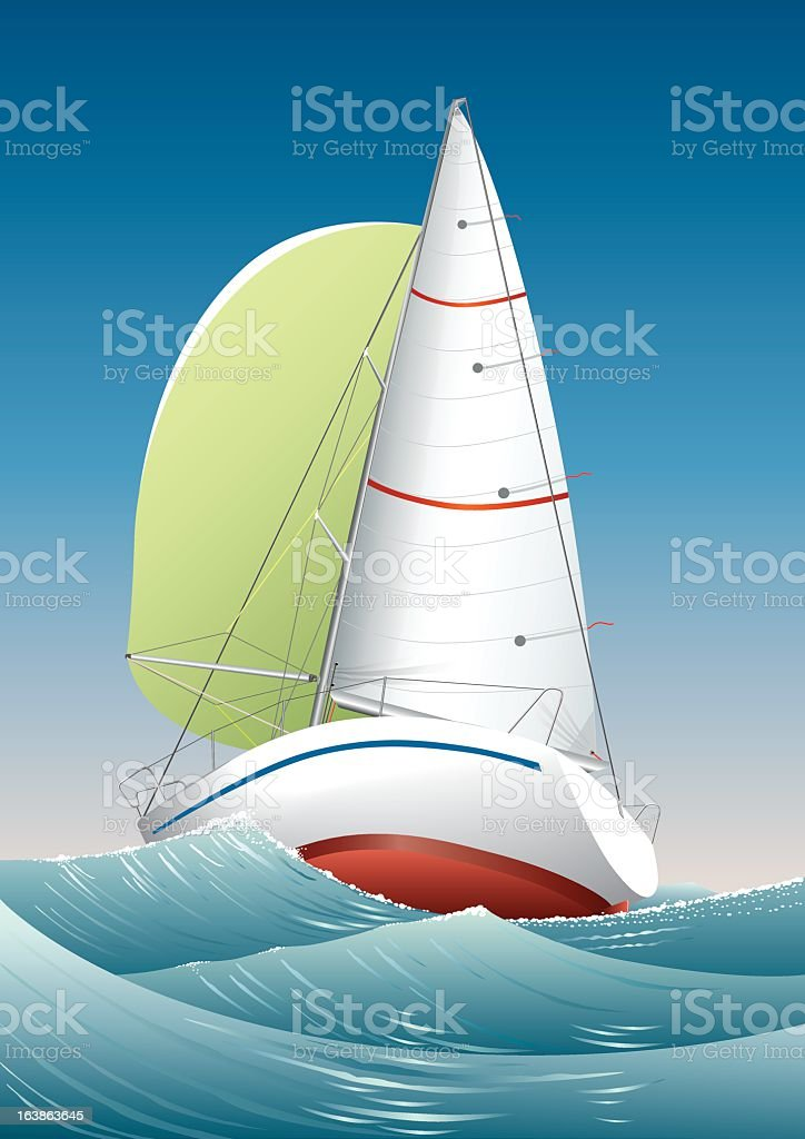 Sailing yacht royalty-free sailing yacht stock vector art & more images of illustration