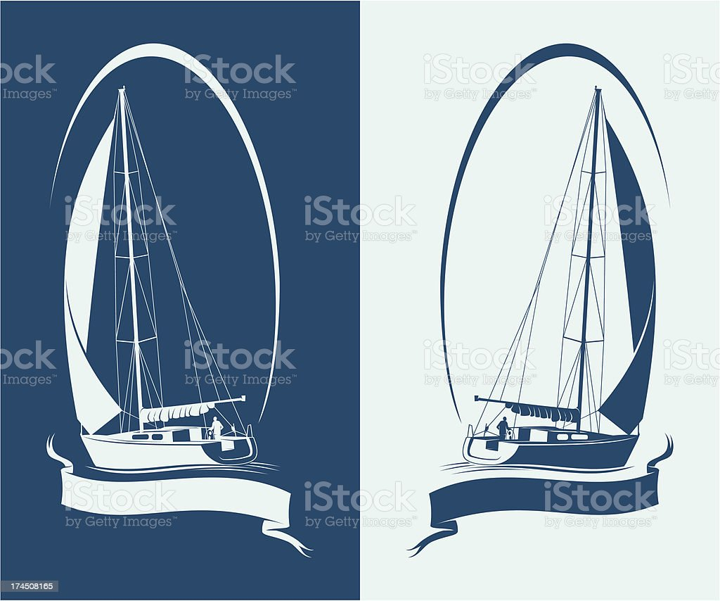 Sailing yacht royalty-free sailing yacht stock vector art & more images of activity