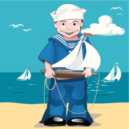 sailor at the beach