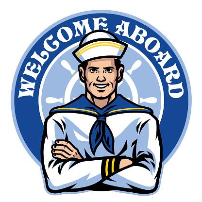 sailor badge design