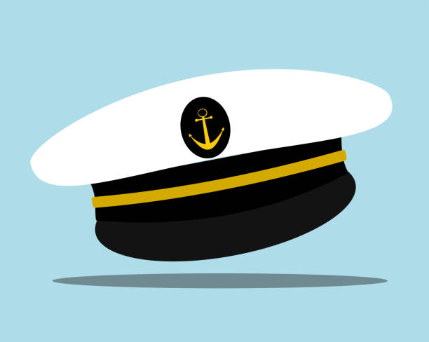sailor hat sailor hat with anchor seyahat noktaları illustrationsları stock illustrations