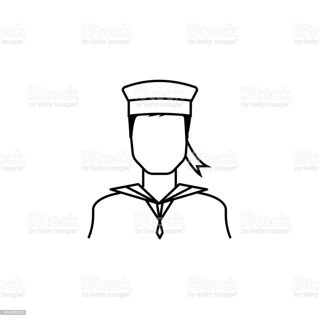 Seemannsymbol Avatarelement Der Berufe Fur Mobile Konzept Und Webapps Dunne Liniensymbol Fur Websitedesign Und Entwicklung Appentwicklung Premiumsymbol Stock Vektor Art Und Mehr Bilder Von Abenteuer Istock