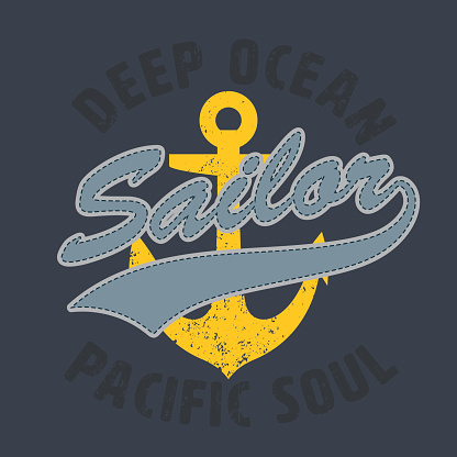 sailor pacific soul graphic for apparel,tee design,vector illust