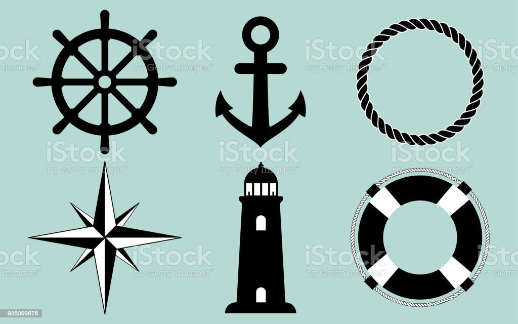 Sailor Set vector art illustration