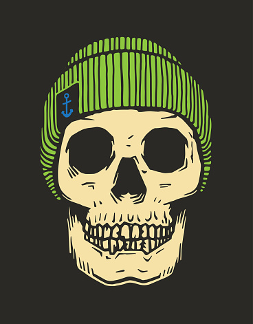 Sailor skull with winter hat