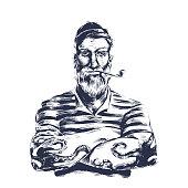 istock sailor wood cut 1217776470