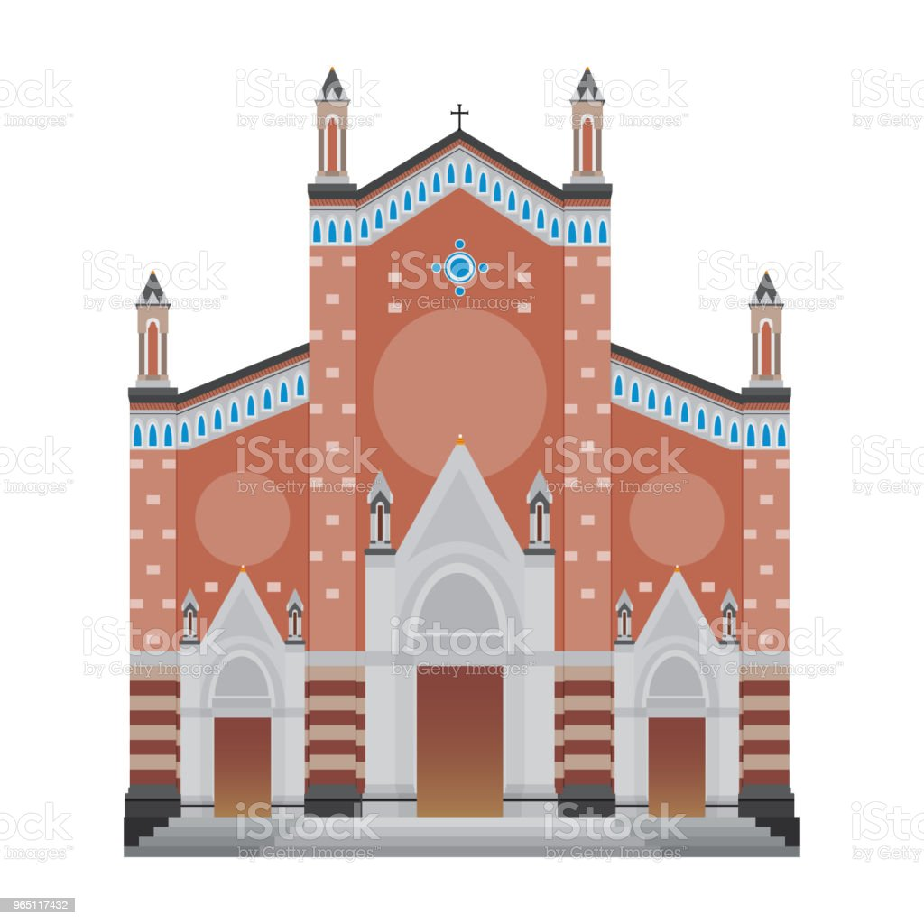 Saint Antoine Church, Istanbul Turkey Isolated Vector Illustration royalty-free saint antoine church istanbul turkey isolated vector illustration stock vector art & more images of architecture