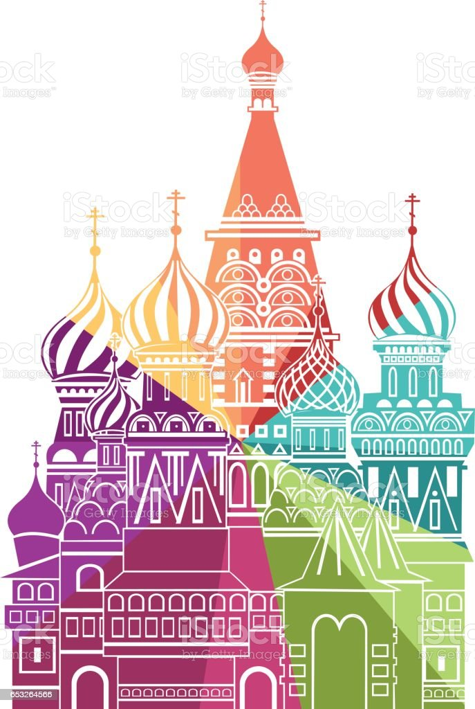 St. Basilius-Kathedrale – Vektorgrafik
