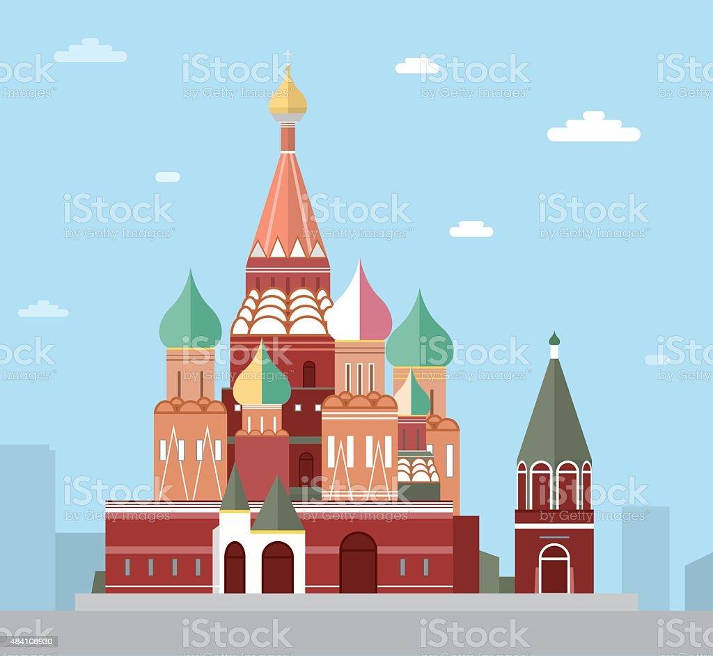 Basilius-Kathedrale in Moskau – Vektorgrafik