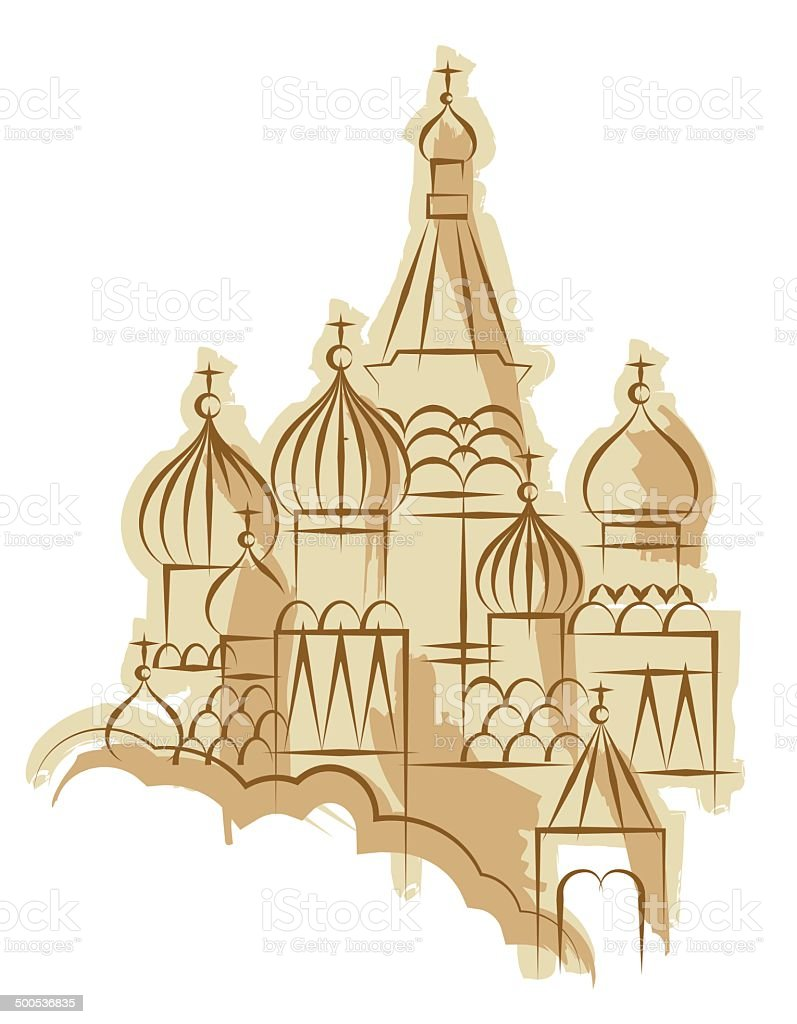 Basilius-Kathedrale in Moskau Vektor-illustration — – Vektorgrafik