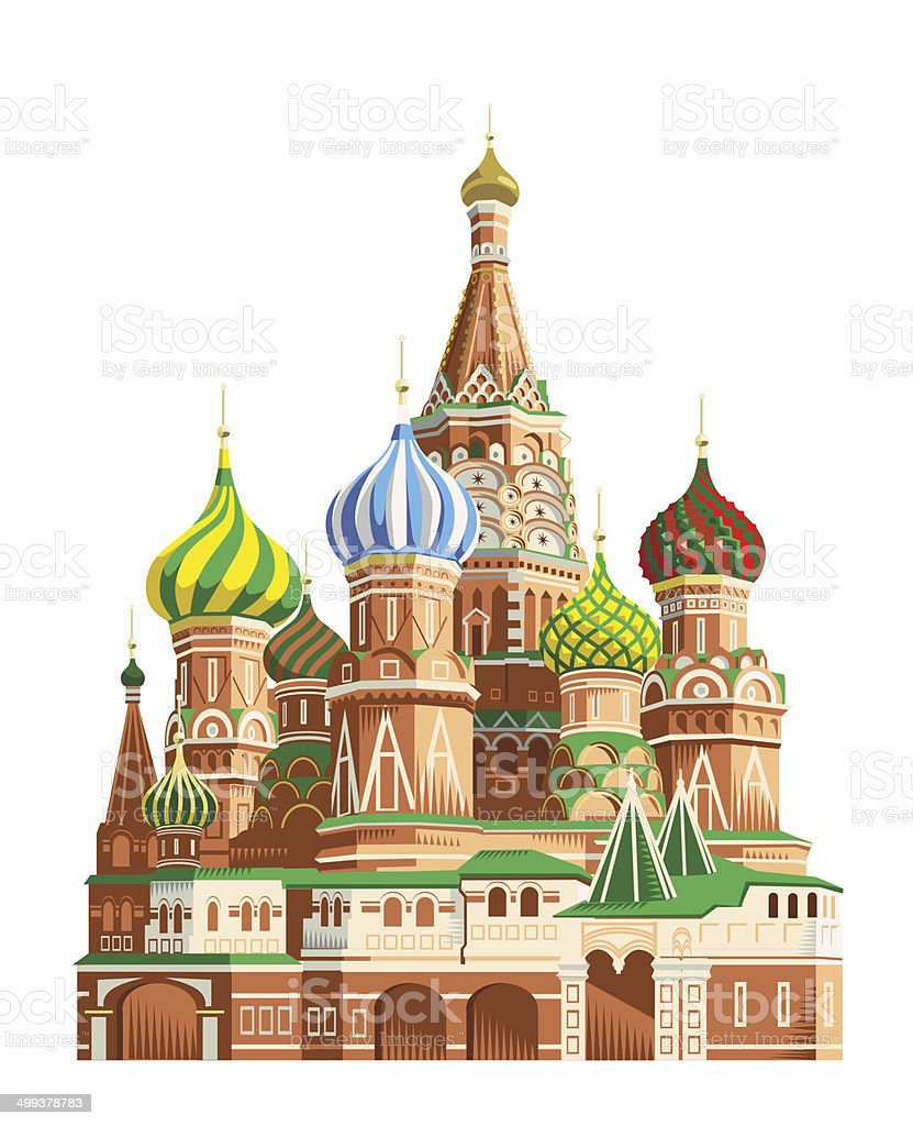 St. Basil's cathedral-Moscow – Vektorgrafik