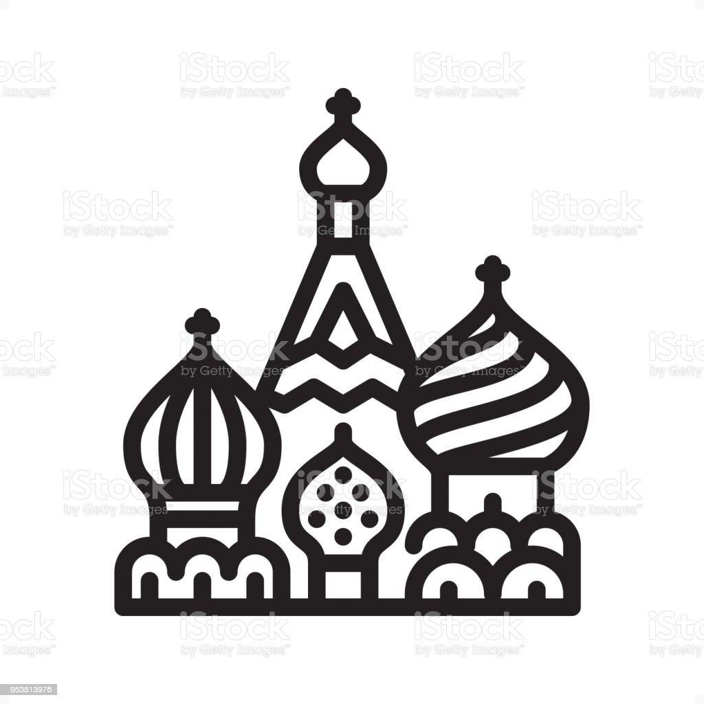 Basilius Kathedrale - Übersicht-Symbol - Pixel Perfect – Vektorgrafik