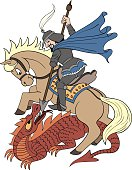 Saint George Cartoon