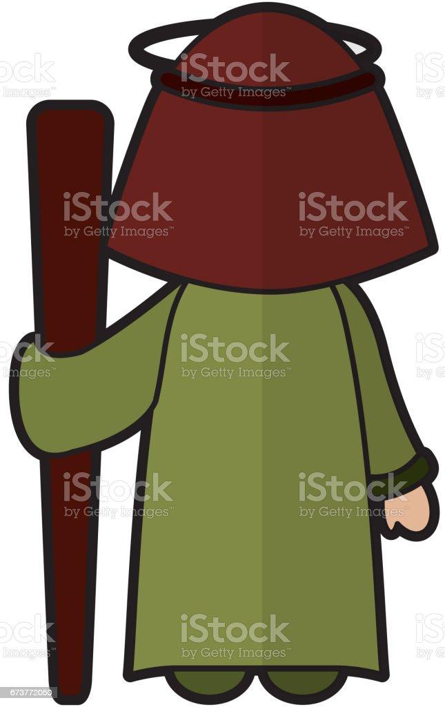 personnage de crèche Saint-joseph personnage de crèche saintjoseph – cliparts vectoriels et plus d'images de adulte libre de droits