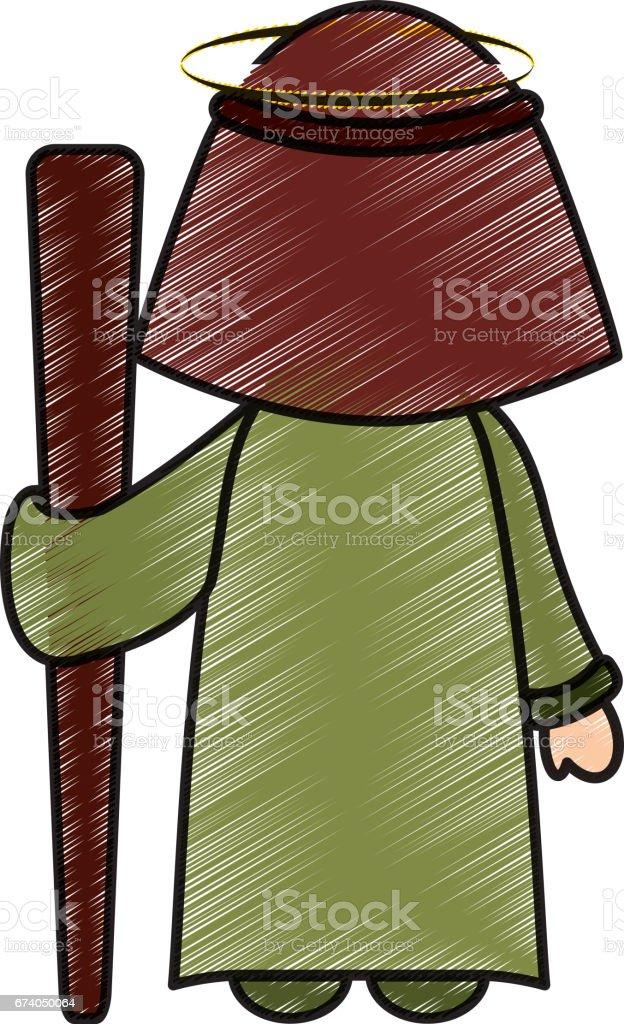saint joseph manger character royalty-free saint joseph manger character stock vector art & more images of adult