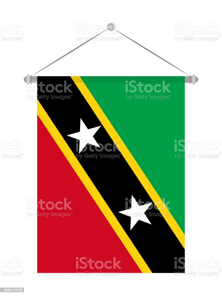 saint kitts and nevis flag stock vector art more images of color