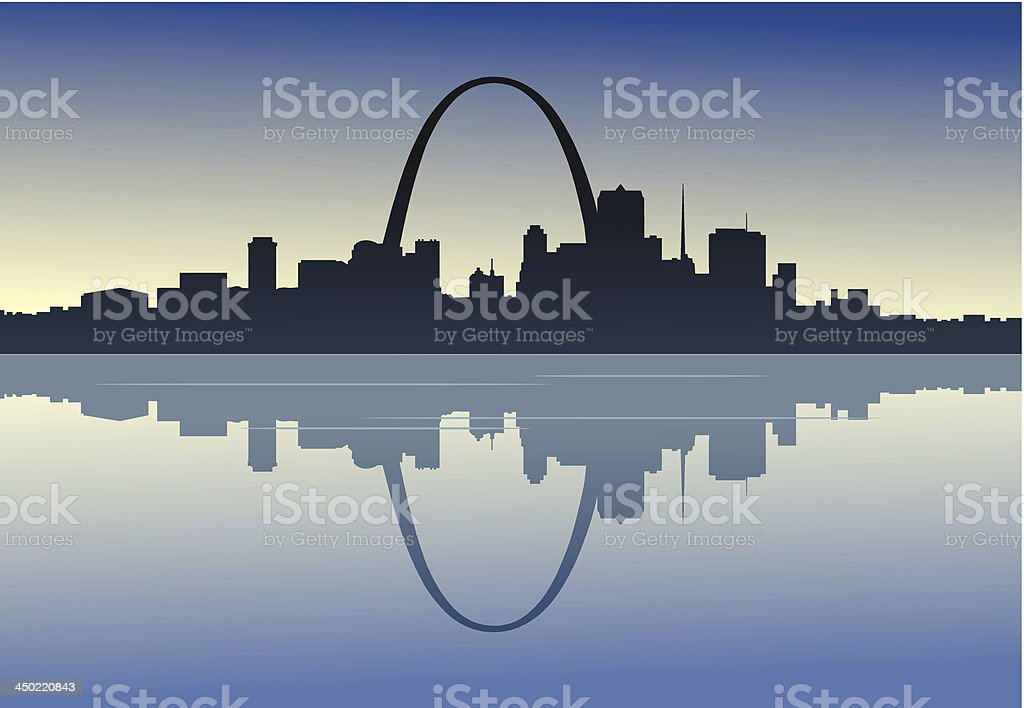 Saint Louis Downtown Riverfront royalty-free stock vector art