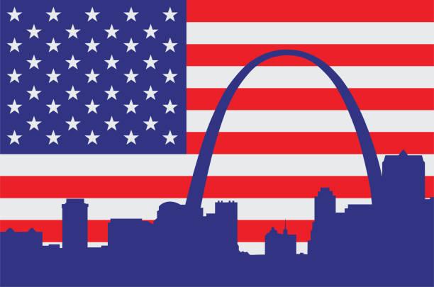 Saint Louis USA vector art illustration