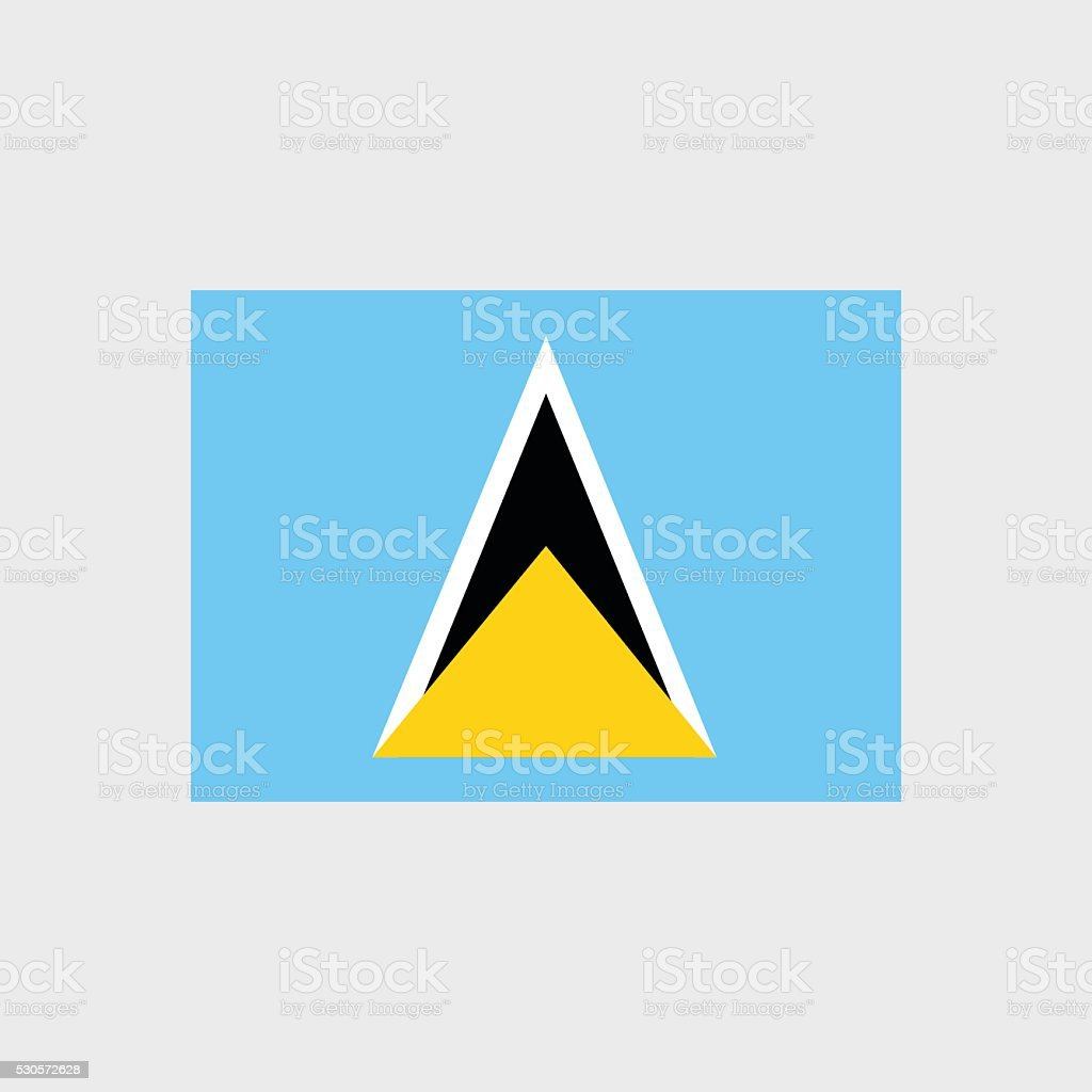 Saint Lucia flag vector art illustration