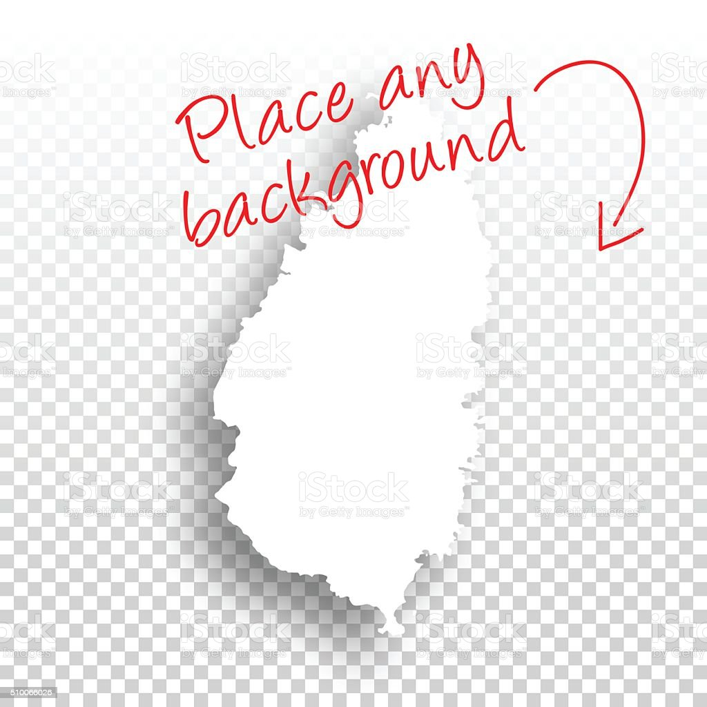Saint Lucia Map for design - Blank Background vector art illustration