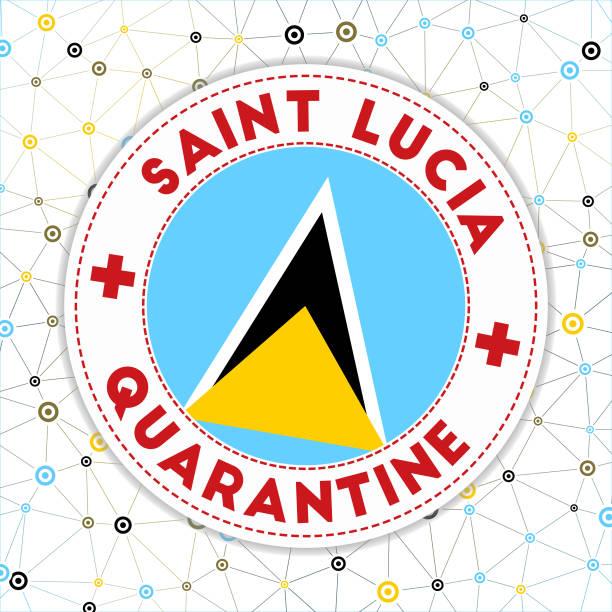 bildbanksillustrationer, clip art samt tecknat material och ikoner med saint lucia under karantän tecken. - lucia