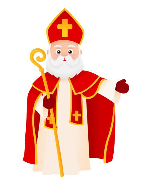 illustrations, cliparts, dessins animés et icônes de caractère de dessin animé de saint nicholas - saint nicolas