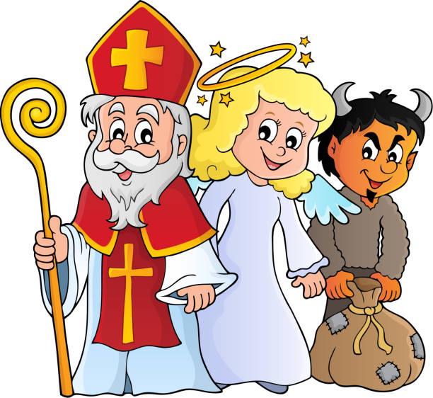 illustrations, cliparts, dessins animés et icônes de thème de la journée de la saint-nicolas 1 - saint nicolas