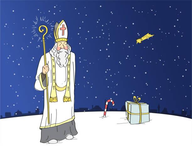 illustrations, cliparts, dessins animés et icônes de saint-nicolas - saint nicolas