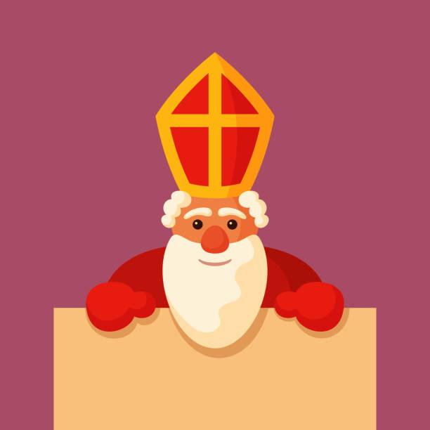 illustrations, cliparts, dessins animés et icônes de saint nicolas avec blanc. - saint nicolas