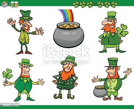 Ilustración de Saint Patrick Día Conjunto De Dibujos Animados y más ...