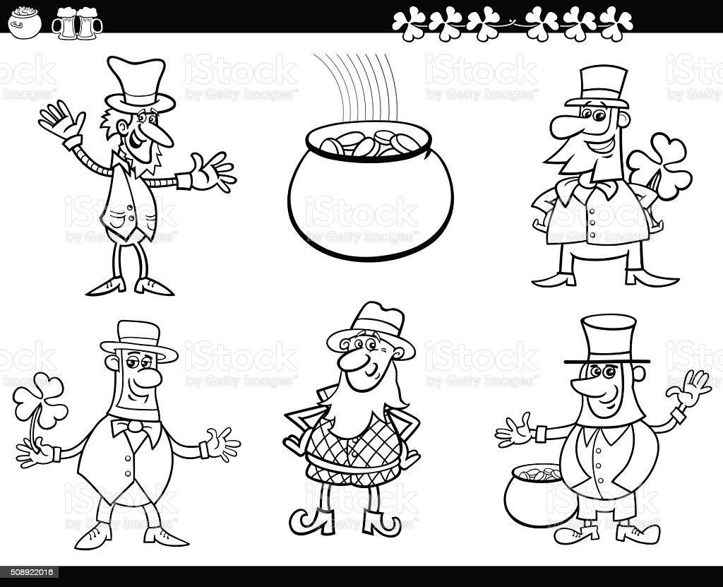 Ilustración de San Patrick Día Libro Para Colorear y más banco de ...