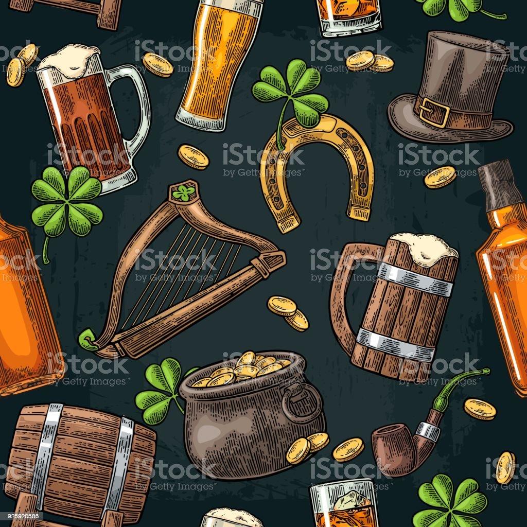 bons plans sur la mode moderne et élégant à la mode Saint Patrick Day Pièces En Pot Pipe Bière Lyre Chapeau Fer ...