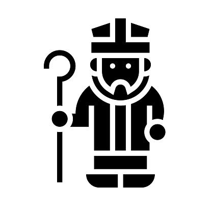 Saint patrick icon, Saint patrick's day related vector