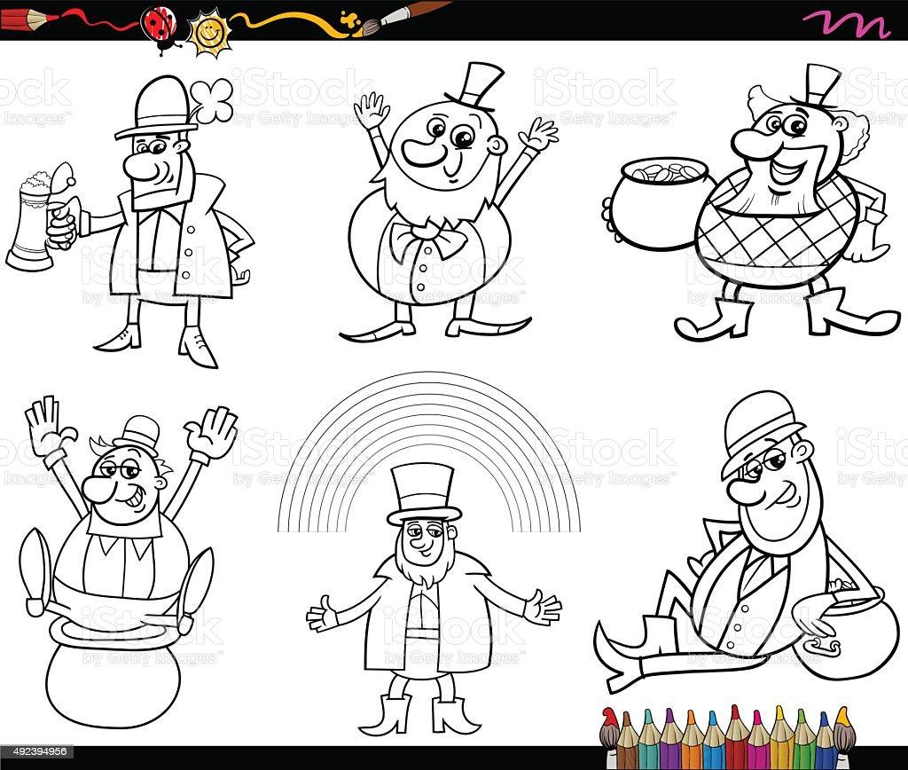Ilustración de Saint Patrick De Página Para Colorear y más banco de ...