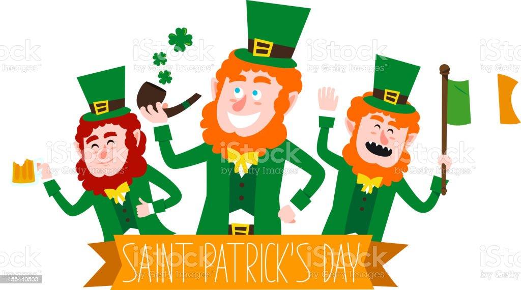 Saint Patricks Banner royalty-free stock vector art