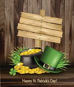 Saint Patrick's Day background with a green hat