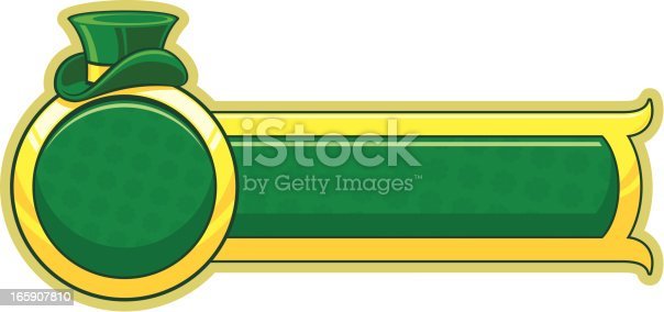 Saint Patrick`s day banner. CorelDRAW 10 file attached.