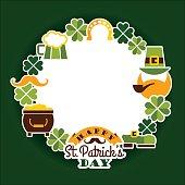 istock Saint Patricks Day baskground. 497104980