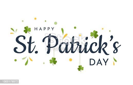 Saint Patrick's Day card, background. Vector illustration. EPS10