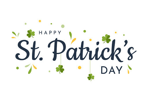 Saint Patrick's Day card, background. Vector