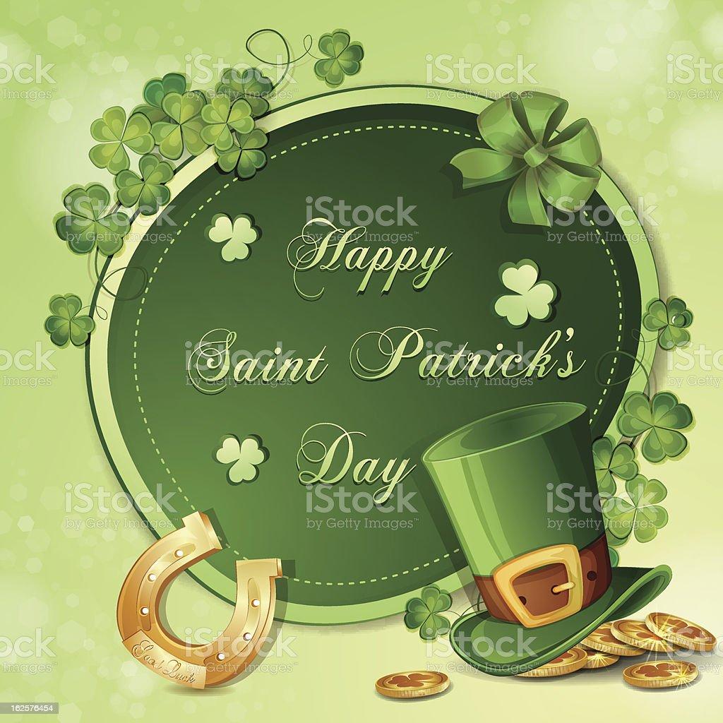 Saint Patrick's Day card royalty-free stock vector art
